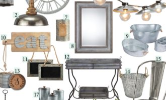 Friday Finds: Farmhouse Galvanized Home Decor