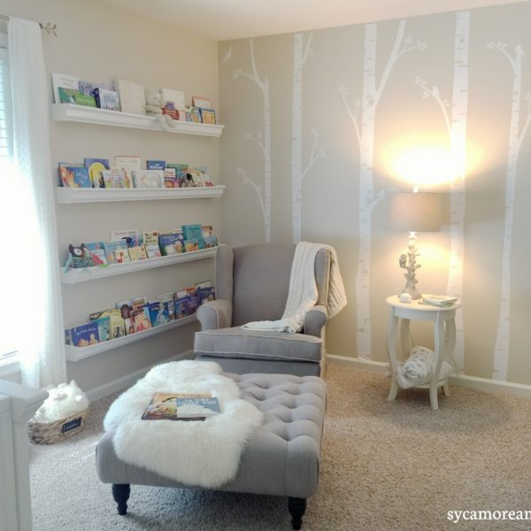 reading nook and glider