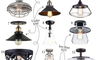 Friday Finds: Farmhouse Flush Mount Lighting