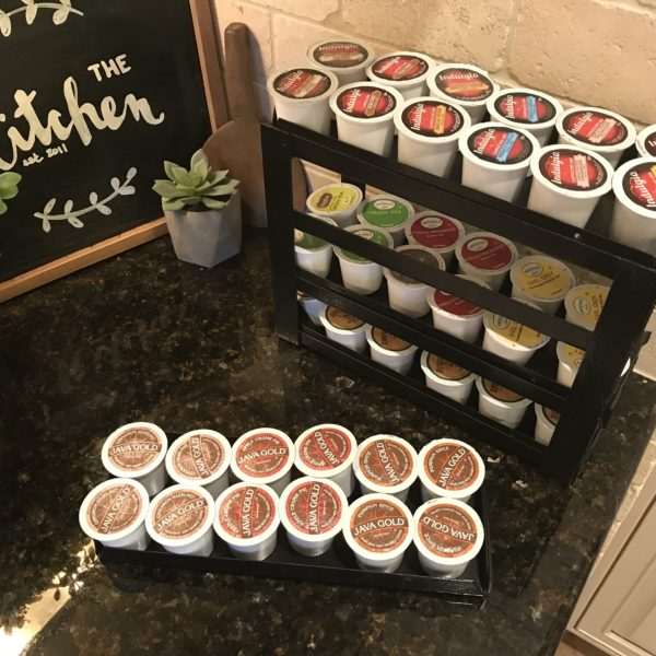 k-cup sliding drawers