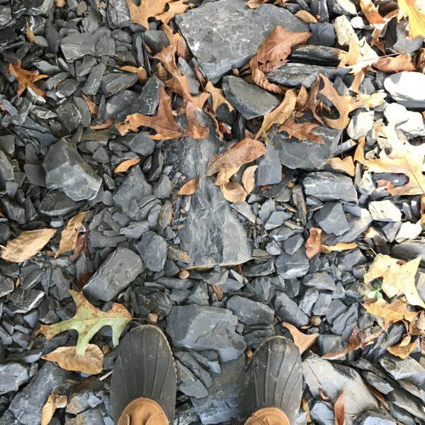 stones under foot