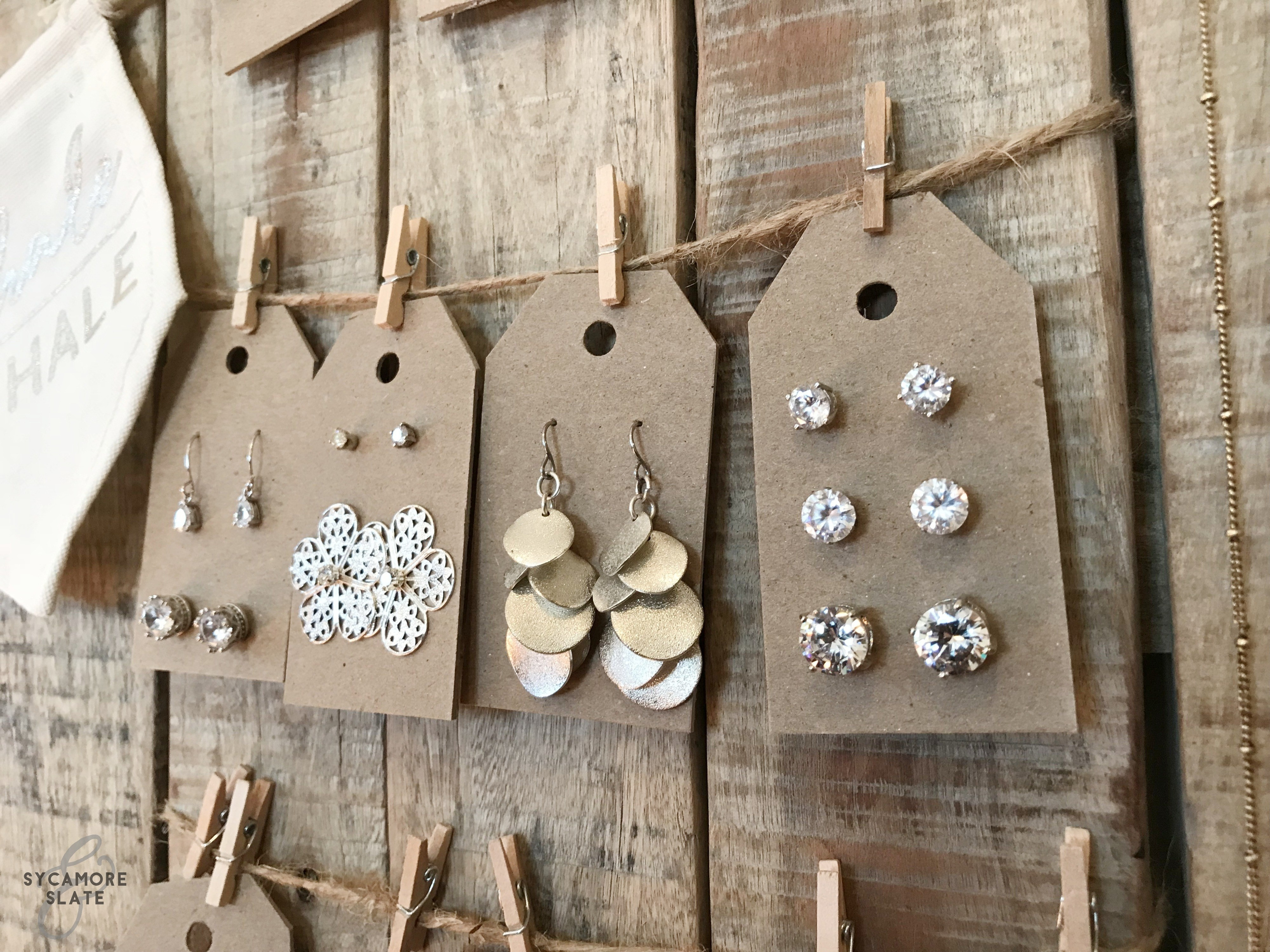 DIY Earring Tags