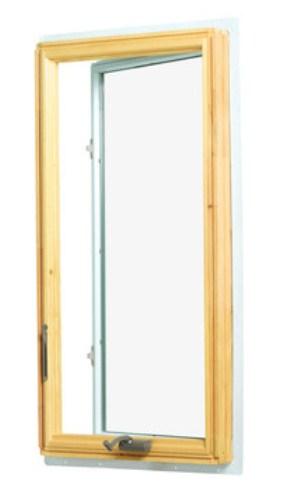 Casement window with hand crank