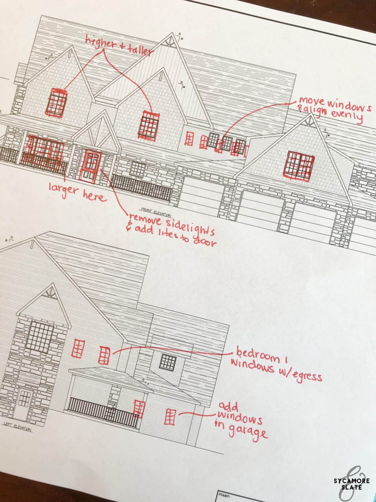 house plan window placement