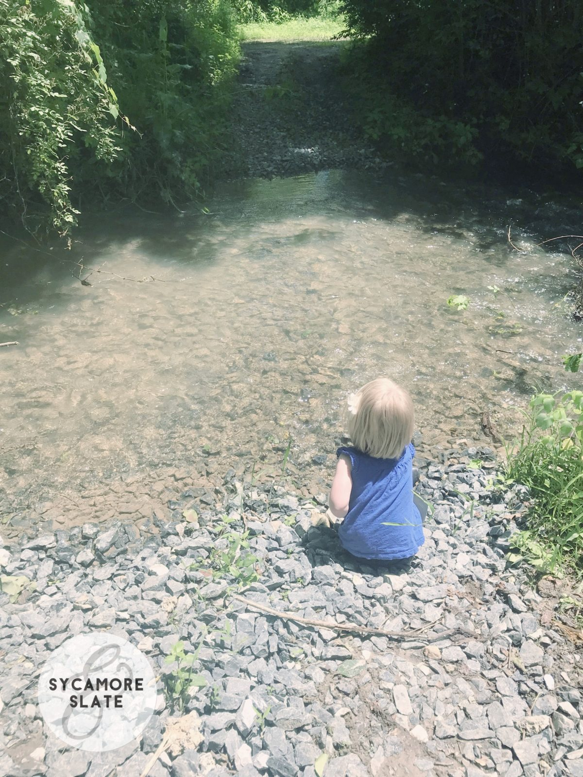 Evie at the creek