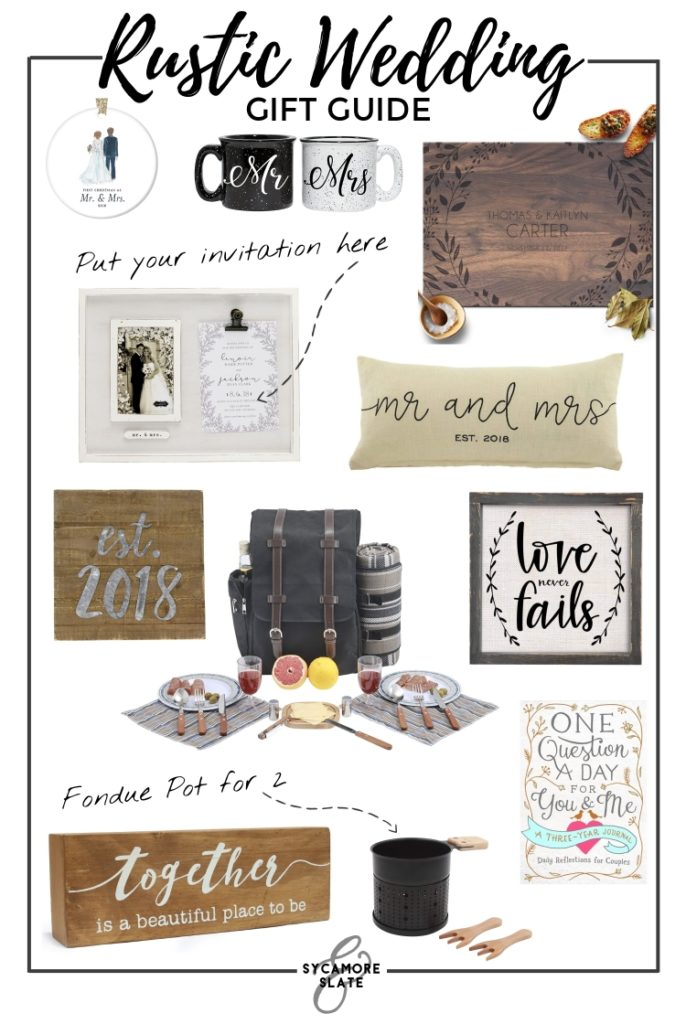 rustic wedding gift guide - These items and so many more!
