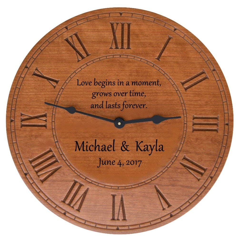 wedding gift - personalized clock