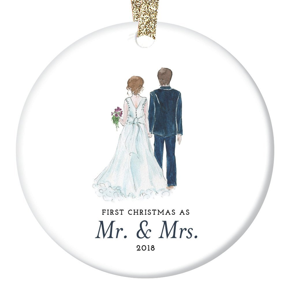wedding gift christmas ornament