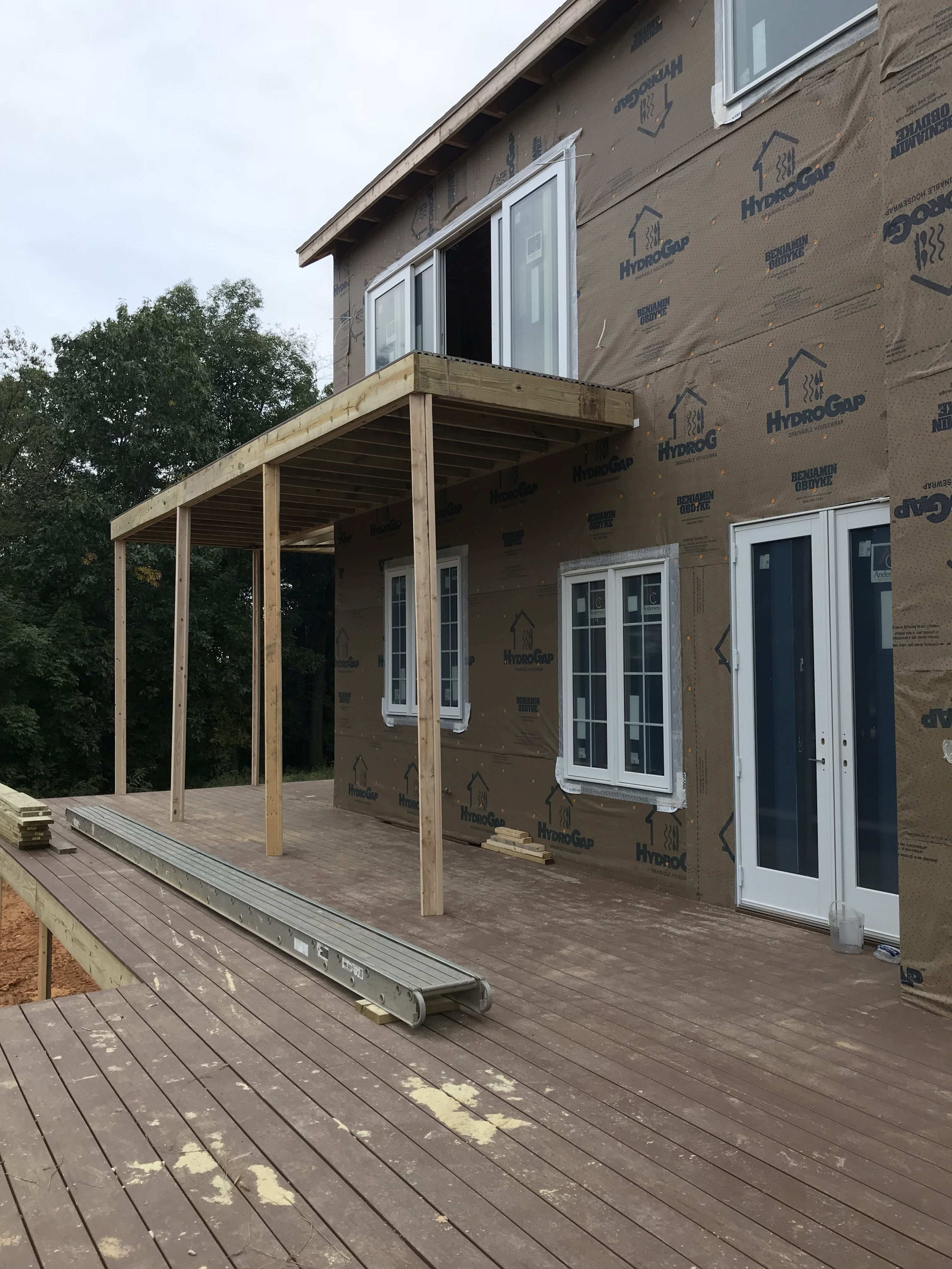 first level deck with master suite deck above