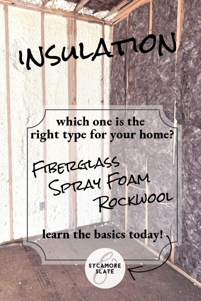Fiberglass? Rockwool? Spray foam? Learn the basics about these insulation materials so you can pick the right one for your home!
