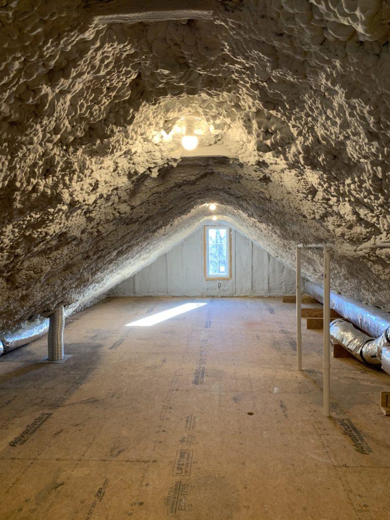 spray foam attic ceiling