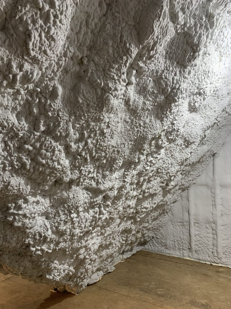spray foam insulation in the attic ceiling