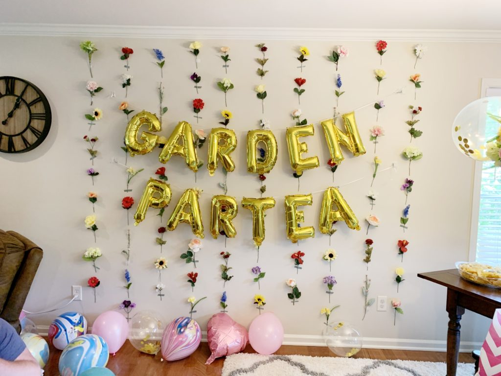 Garden partea backdrop