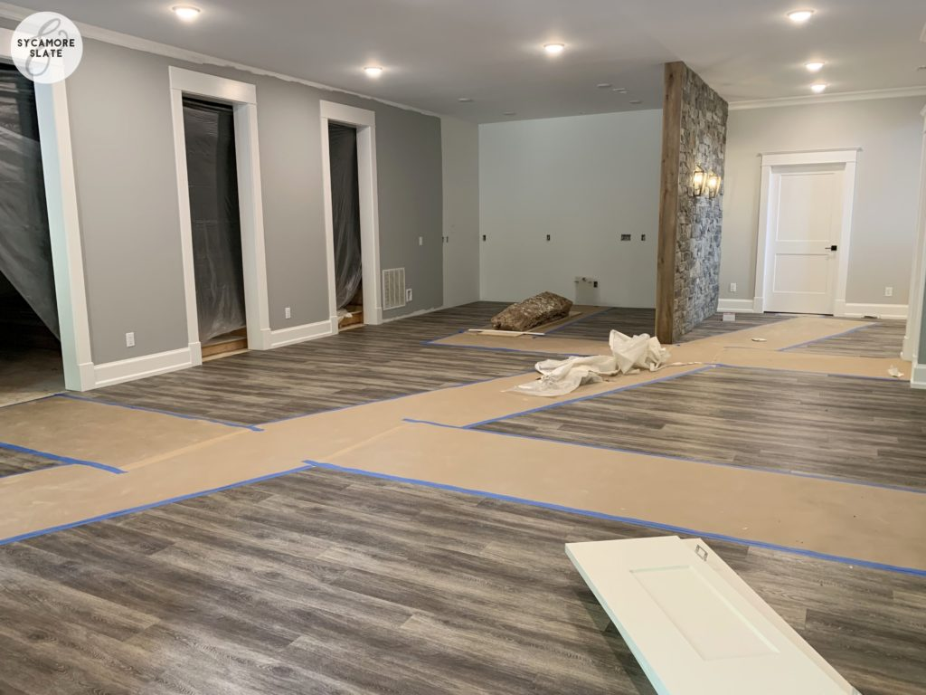 basement flooring - mannington adura - margate oak - harbor