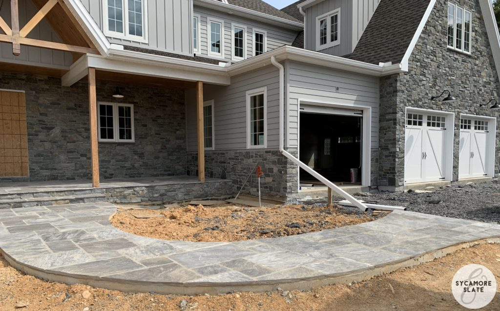 front flagstone paver walkway