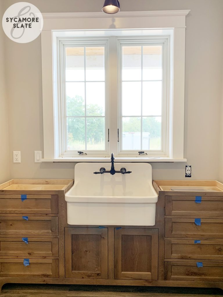 mudroom wall sink with faucet