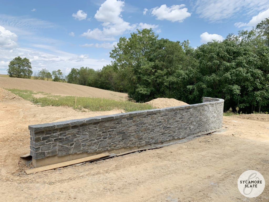 retaining wall with stone
