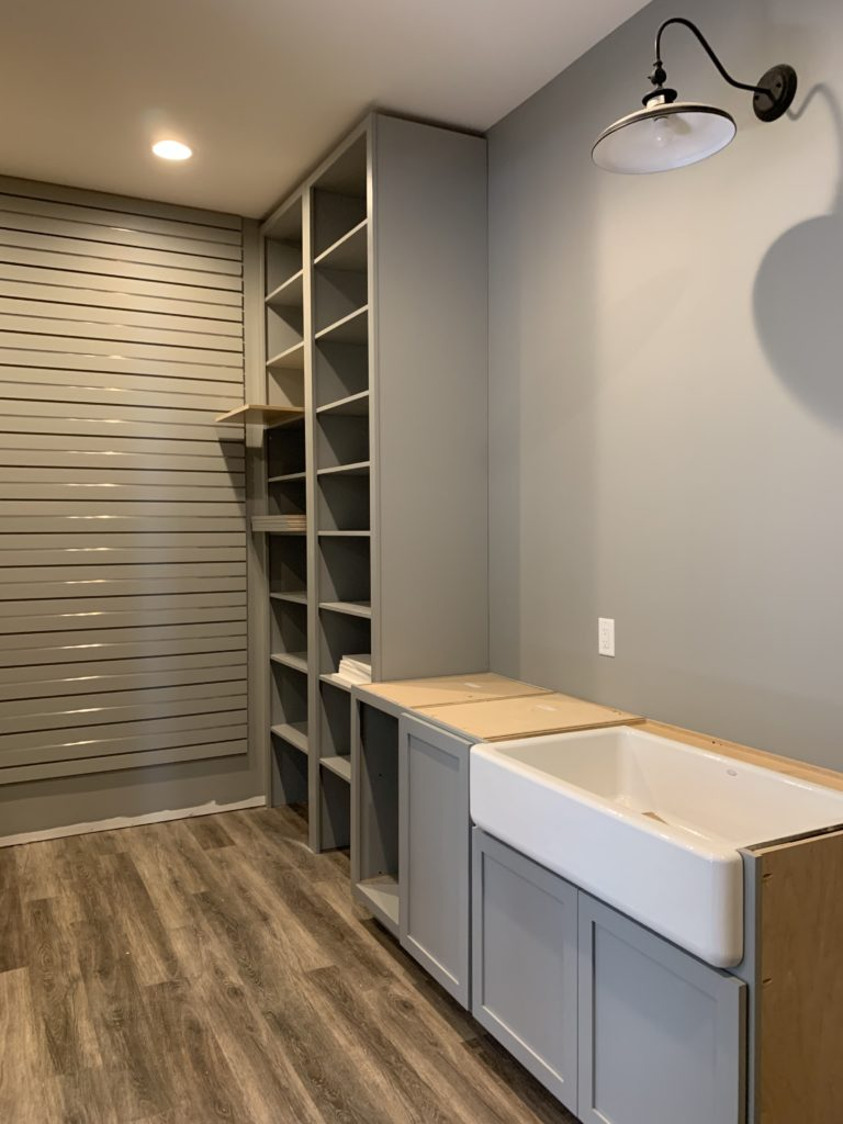 walk in pantry cabinets and sink