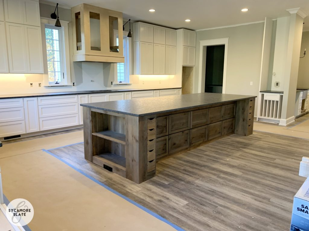 steel grey granite in kitchen