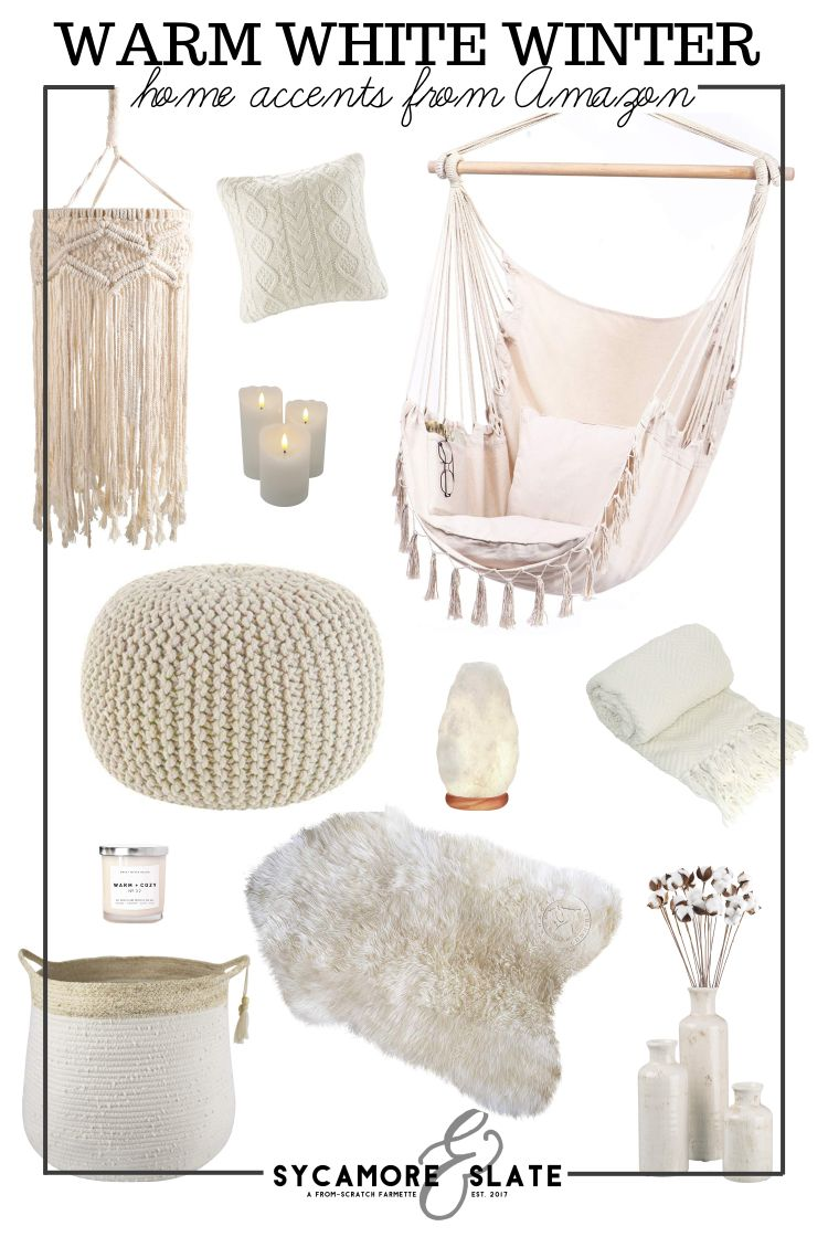 warm white winter decor