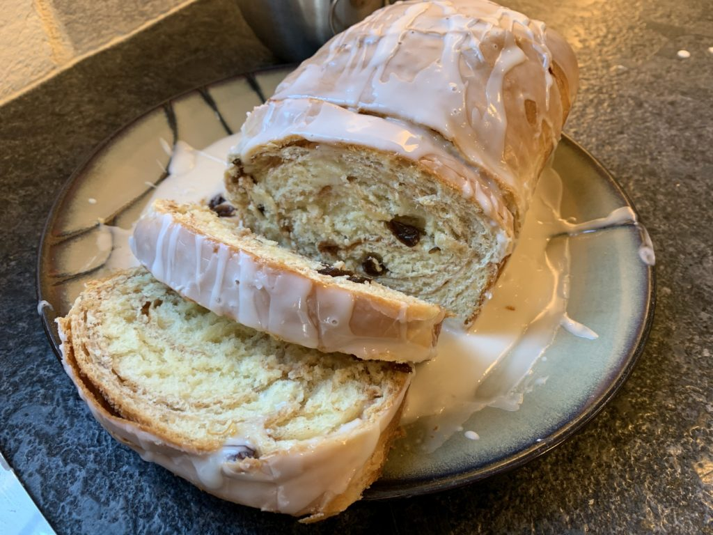 Iced Cinnamon Raisin Bread
