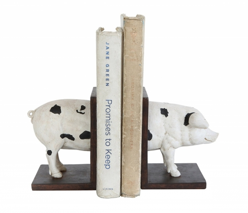 Resin Pig Bookends