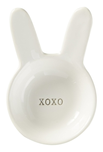 bunny ears xoxo trinket dish