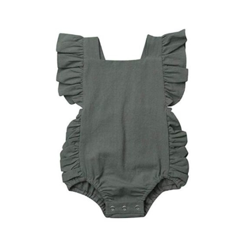 Green ruffle bodysuit