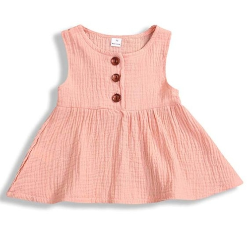 Ruffly button dress